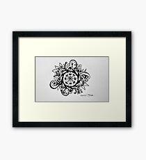 Dharma Wheel Framed Print
