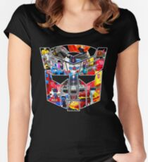 TRANSFORMERS FIGURES!!! Generation 1 Autobot Logo  Women's Fitted Scoop T-Shirt