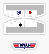 Top Gun - Minimal Poster Sticker