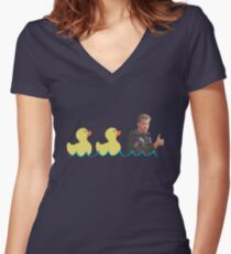 Duck...Duck...Goose! Women's Fitted V-Neck T-Shirt