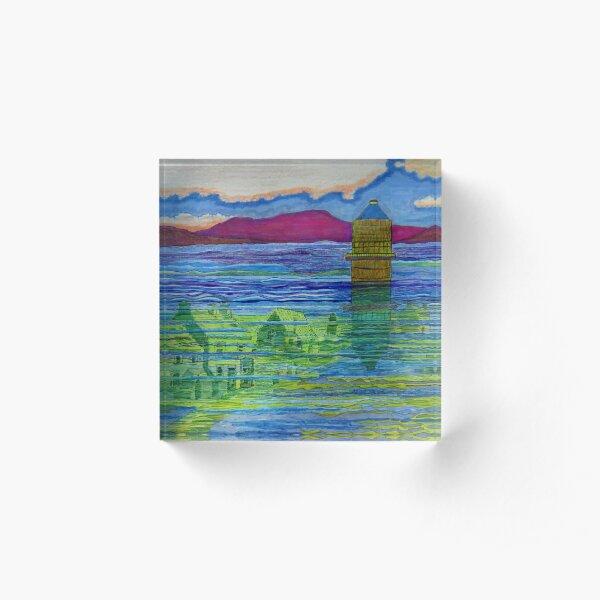 510 - LLYN CELYN - DAVE EDWARDS - MIXED MEDIA - 2020 Acrylic Block