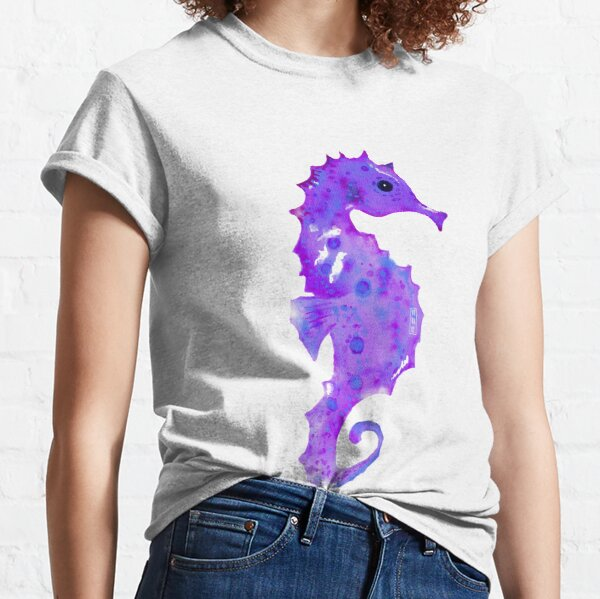 Purple seahorse Classic T-Shirt