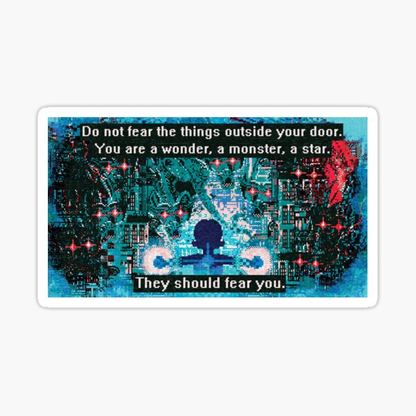 They should fear you. Sticker