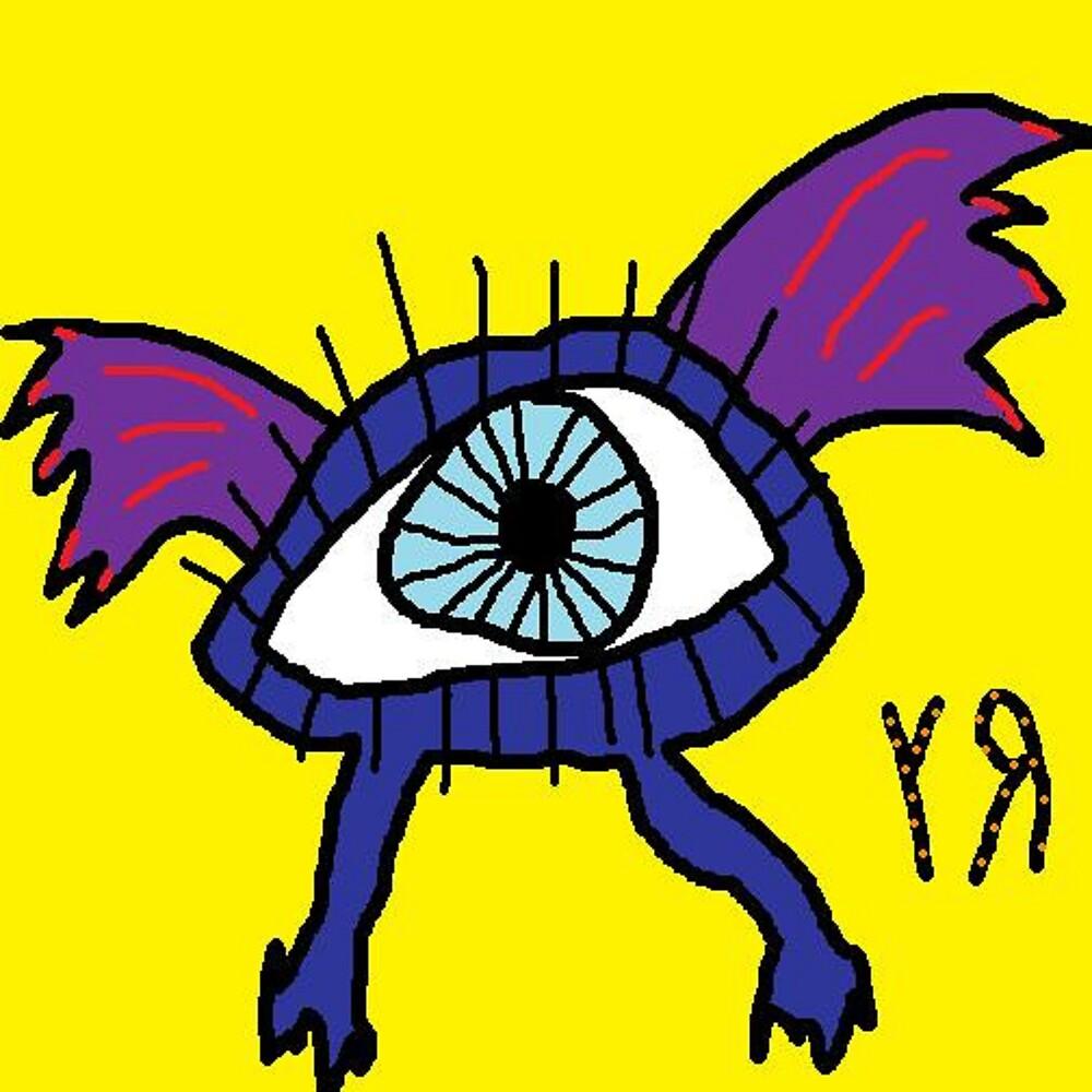"""""""Flying Eyeball"""" by Richard F. Yates by richardfyates"""