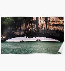 Stone Arch: Halong Bay, Vietnam Poster