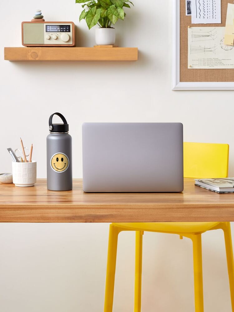 Alternate view of  Vintage smiley face  Sticker
