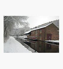 Cromford Canal - Snow 2013 Photographic Print