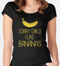 Sorry girls, I like Bananas Women's Fitted Scoop T-Shirt