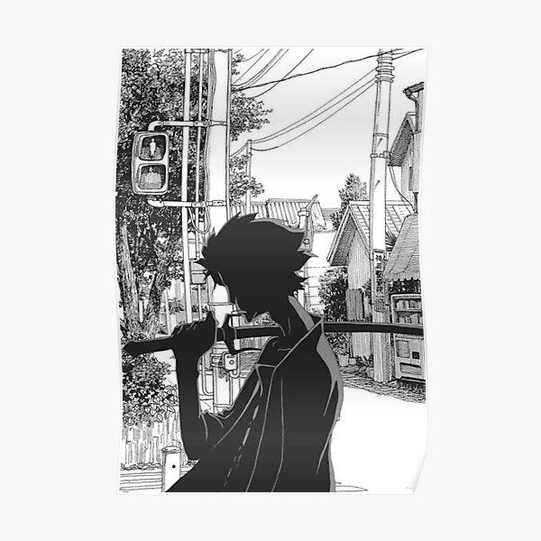 Samurai Champloo en noir et blanc Poster