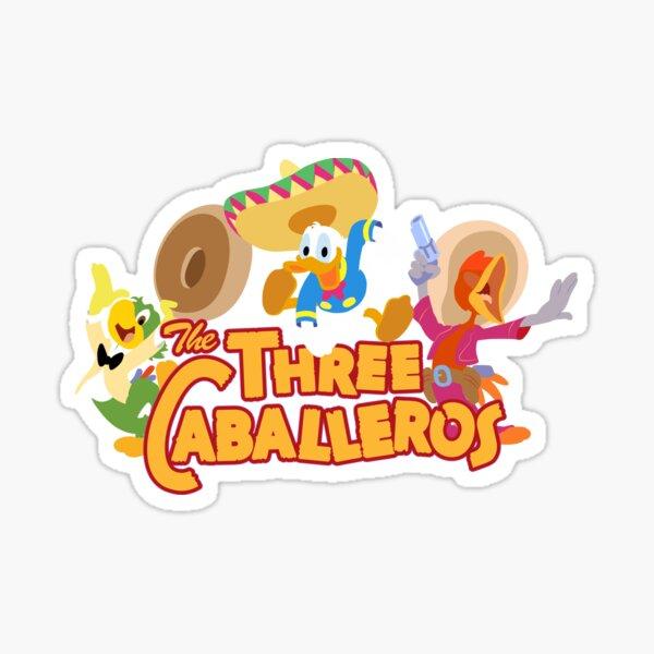 The caballeros, three amigos in technicolor Sticker