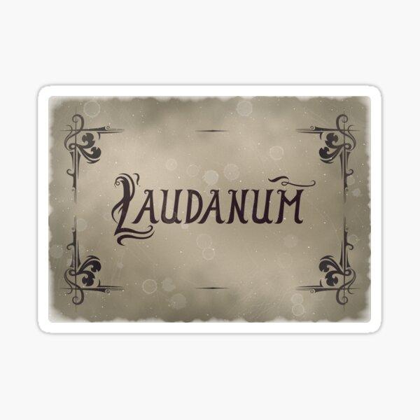 Bottle Label Laudanum Filter 2 Sticker