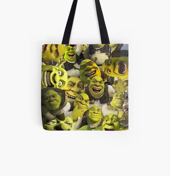 Shrek Collage  All Over Print Tote Bag