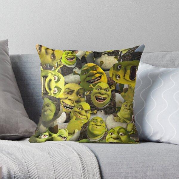 Shrek Collage  Throw Pillow