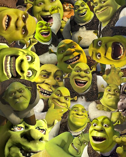 Quot Shrek Collage Quot Posters By Lucy Lier Redbubble