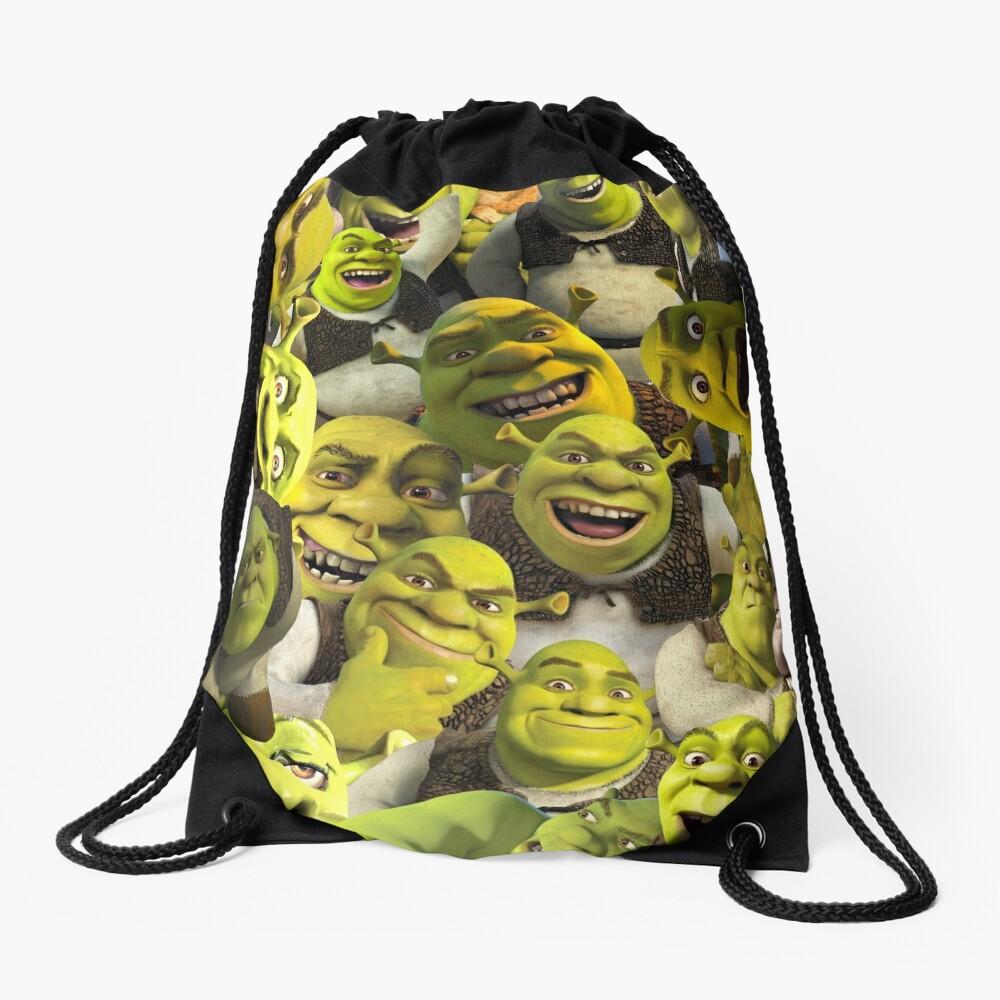 Shrek Collage  Drawstring Bag