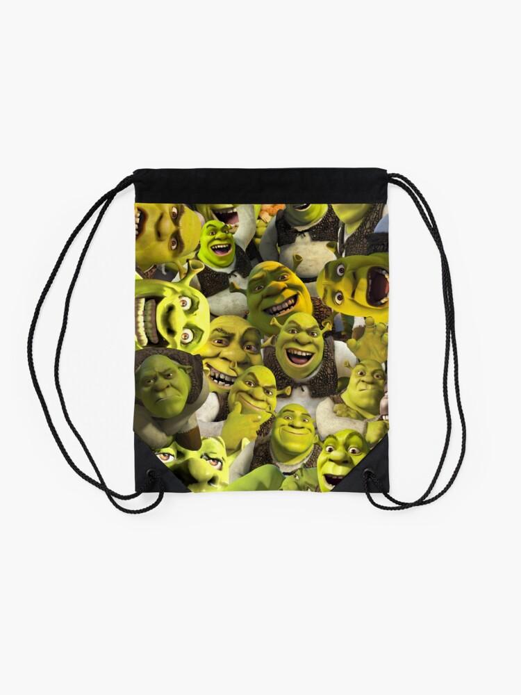 Alternate view of Shrek Collage  Drawstring Bag