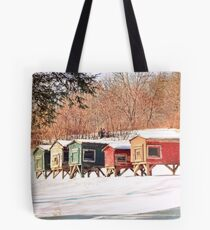 Old Chicken Coops Tote Bag