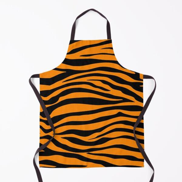 Orange Tiger Stripes Cat Pattern Kitten Kittens Cats Kitty Apron