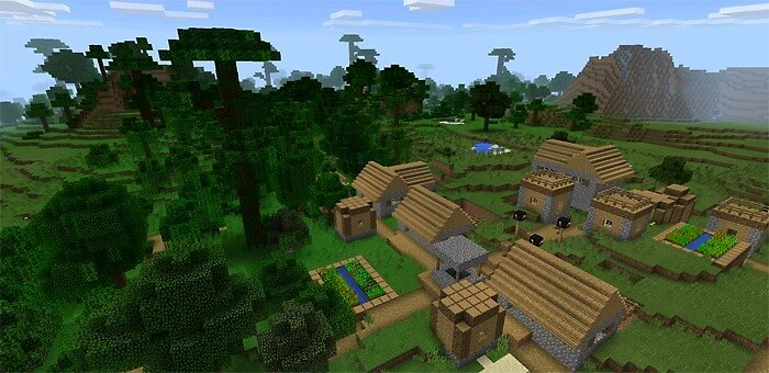 Minecraft PE seeds: Villages in the Jungle by minecraftpemaps