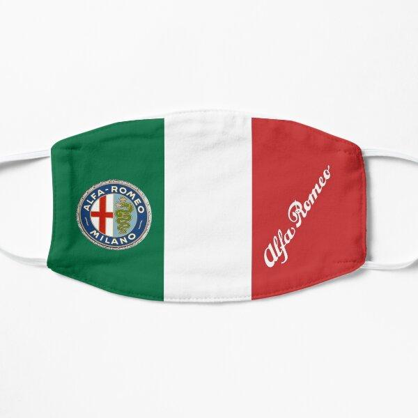 Alfa '60 -'72 Badge & Script-Couleur / Blanc sur drapeau italien Masque sans plis