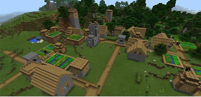 MCPE Seeds: Great Fields & Mega Mountains by seedsformcpe
