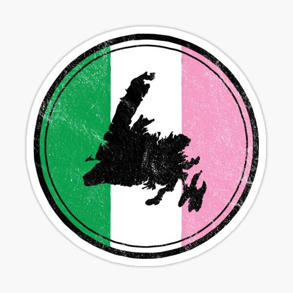 Newfoundland Map Dominion Flag || Newfoundland and Labrador || Gifts || Souvenirs Sticker