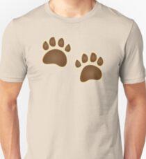 Bear paw prints Unisex T-Shirt