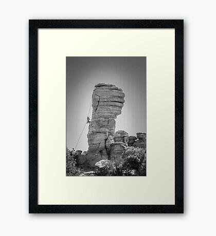 Hoodoo Climbing in Coronado National Forest Framed Print