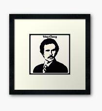 Stay Classy - Ron Burgundy Framed Print