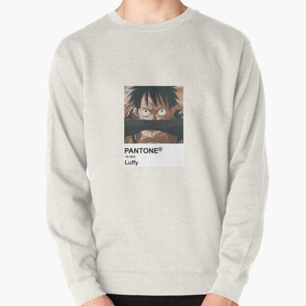 Luffy Anime Pantone Sticker  Pullover Sweatshirt
