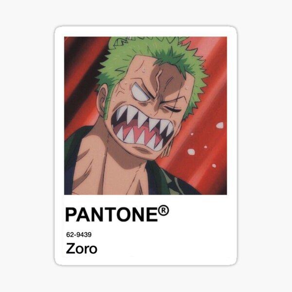 Zoro Anime Pantone Sticker  Sticker
