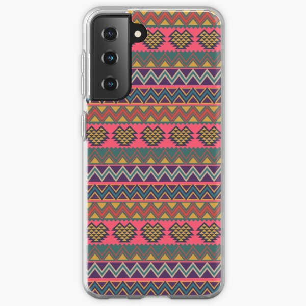 South American folk Art with Mexico abstract art Decorations South central American patterns Samsung Galaxy Soft Case