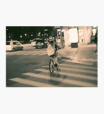 Girl on Bicycle Photographic Print