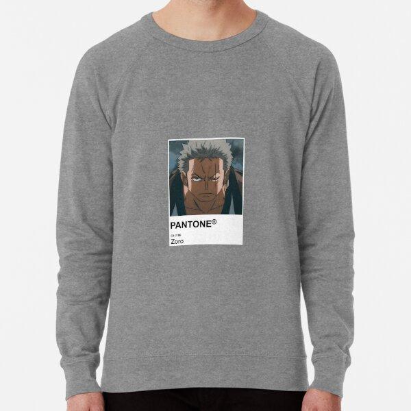 Zoro Anime Pantone Sticker  Lightweight Sweatshirt