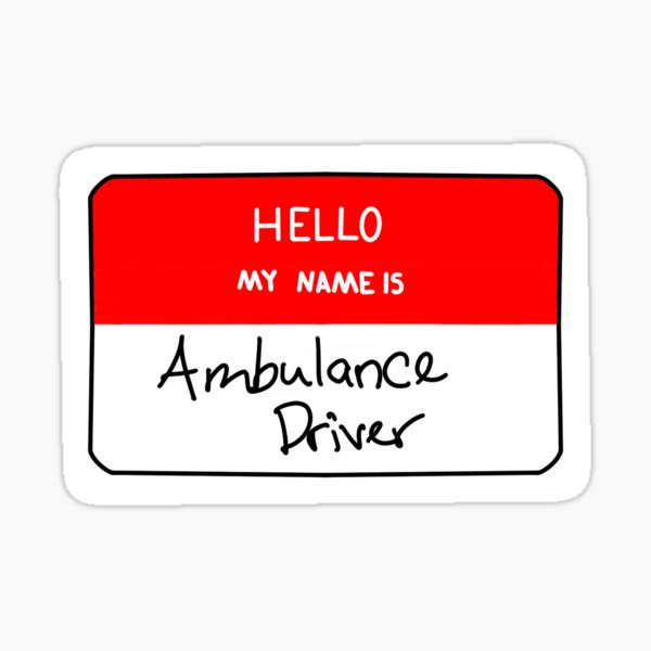 Ambulance Driver Sticker