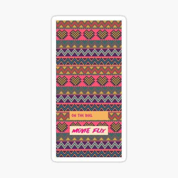 South American folk Art with Mexico abstract art Decorations South central American patterns Sticker