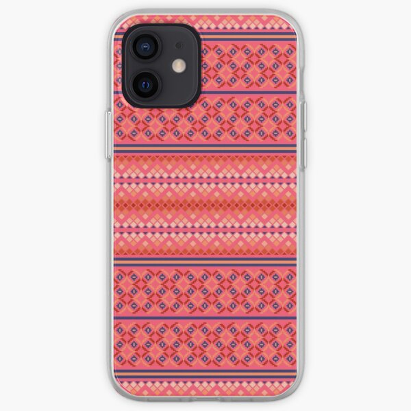 South American folk Art with Mexico abstract art Decorations patterns iPhone Soft Case