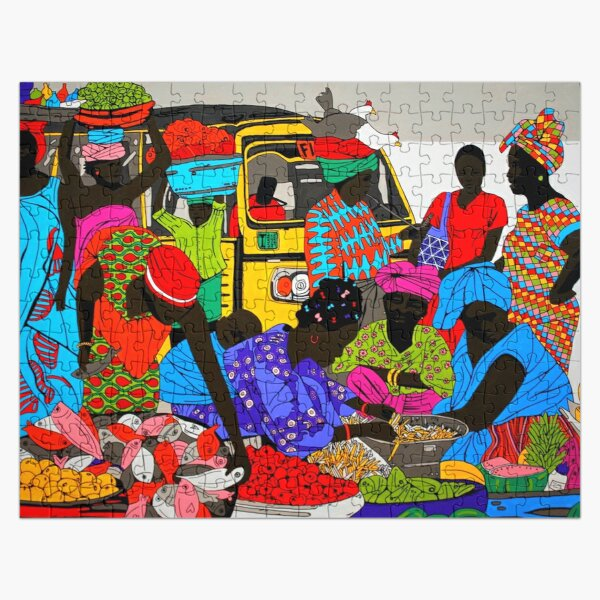 African marketplace Jigsaw Puzzle