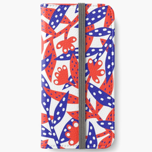 Red & Blue iPhone Wallet
