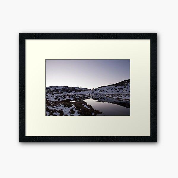 Spencers Creek - Winter Dusk View 01 Framed Art Print