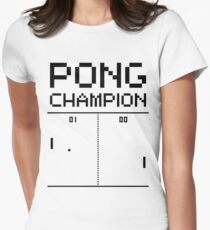 Pong Champion Women's Fitted T-Shirt