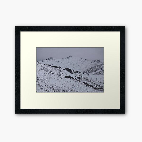 Main Range - Charcoal Mountains Framed Art Print