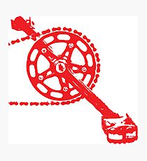 Cycling Crank Photographic Print
