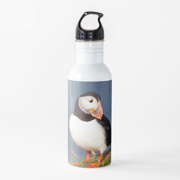 Watercolor Bird, Atlantic Puffins 45, Westman Islands, Iceland Water Bottle