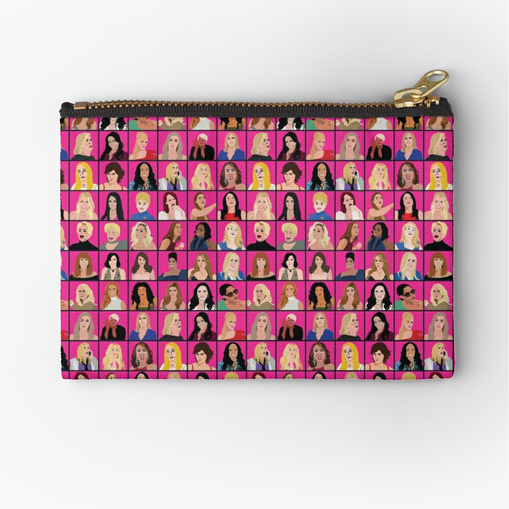 Real Housewives All Stars Zipper Pouch