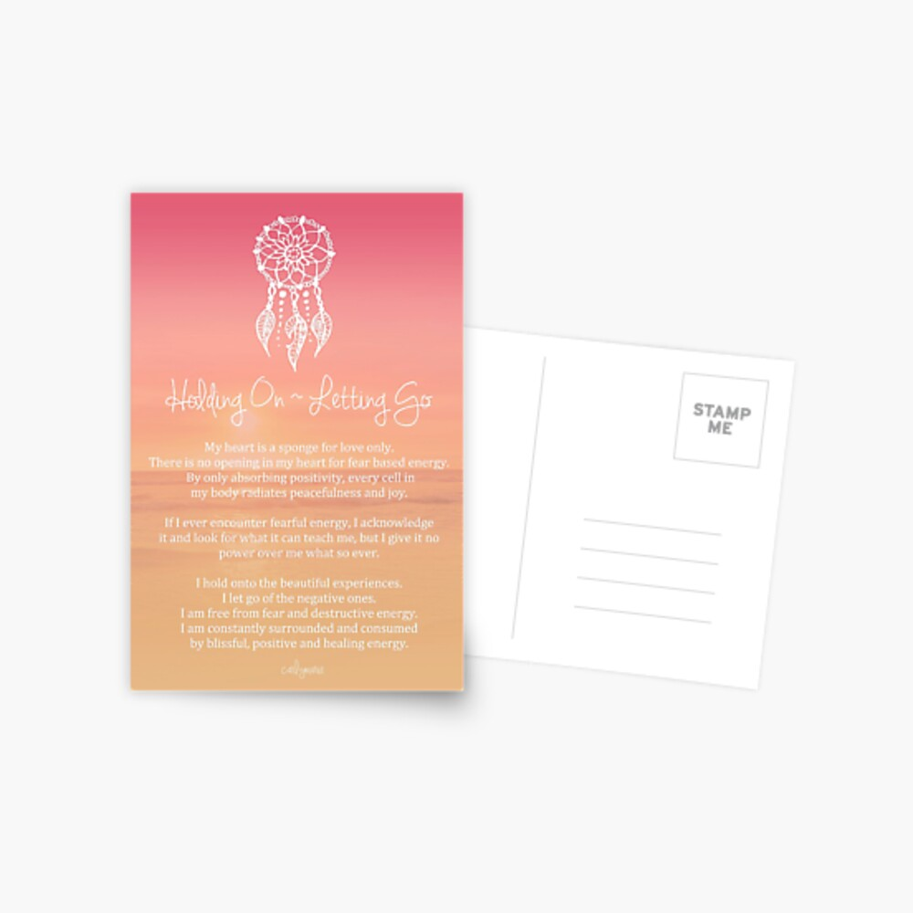 Affirmation - Holding On ~ Letting Go Postcard