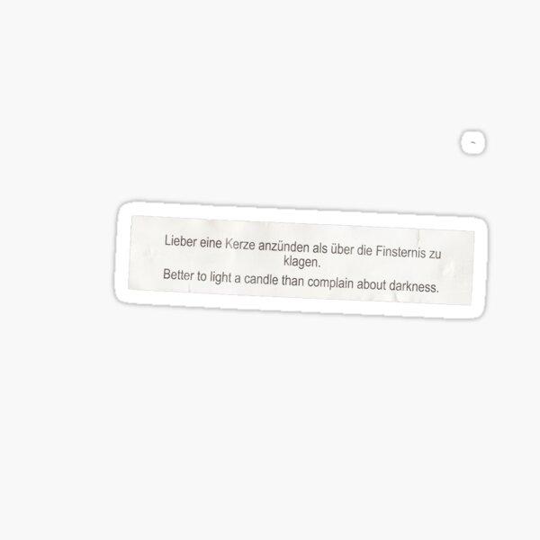 """""""Pocket wisdom 2020"""" (OC) Sticker"""