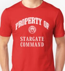 Property of Stargate Command Athletic Wear White ink Unisex T-Shirt