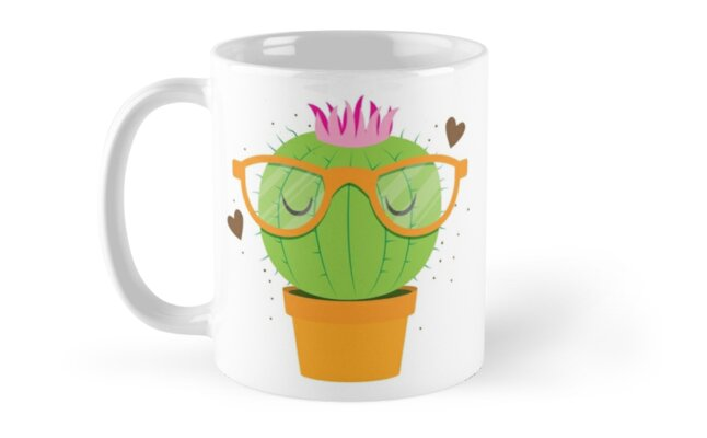 Super Kawaii Nerdy Hipster Cactus by jazzydevil