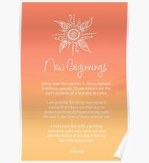 Affirmation - New Beginnings Poster